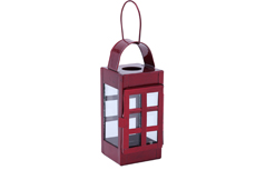 2 PC PK GALVANIZED SQUARE LANTERN