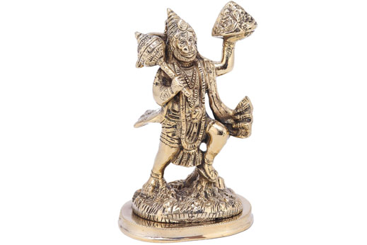 Solid Brass Hanumanji on Oval Base
