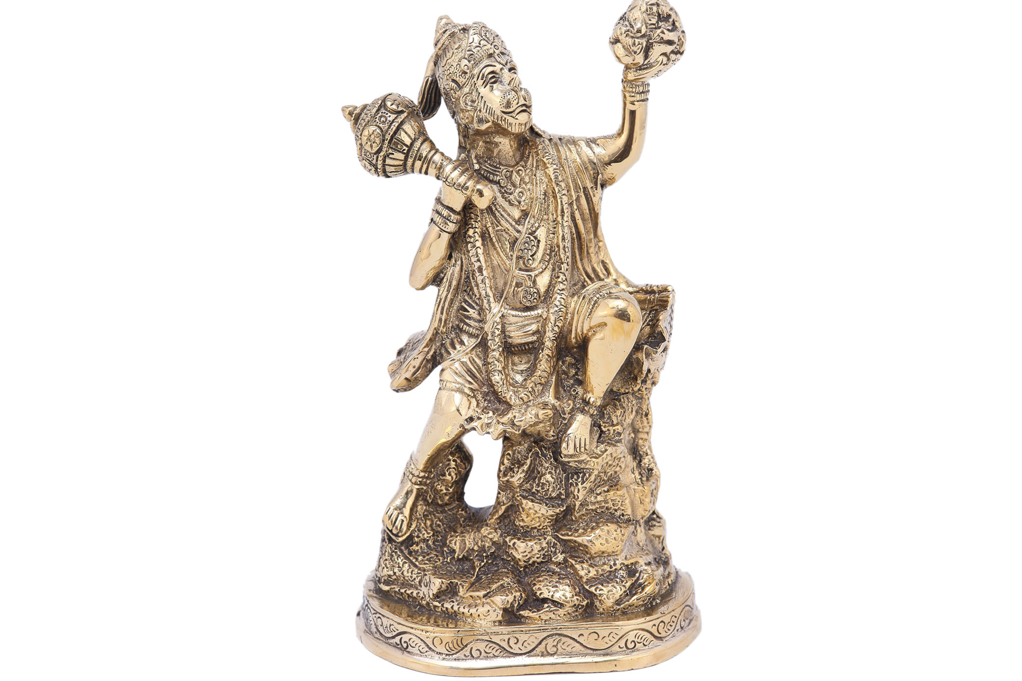 Solid Brass Hanumanji with Parbat