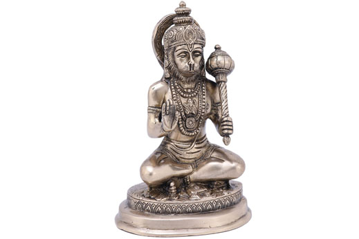Solid Brass Hanumanji Sitting